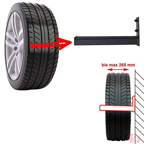 4U® 4 x Wand-Reifenhalter 31cm, 50kg, (30x30mm) Reifenhalter Wandhalterung Felgenhalter Wandhalter Reifenständer Felgenregal Reifenhalterung Reifenwandhalter