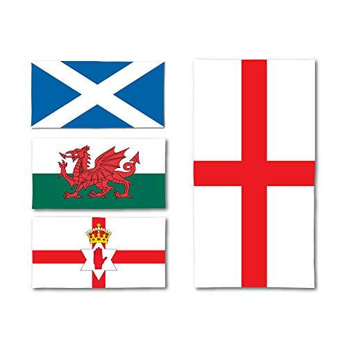 Toalla de microfibra con mezcla de algodón súper suave cuatro naciones Toallas de playa Inglaterra|Gales|Escocia | Isla del Norte, 140 x 70cm