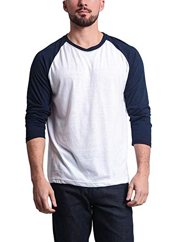 Victorious Men's Baseball T-Shirt TS900 - Navy/White - X-Large