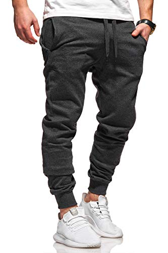 Ombre-Eight Herren Jogginghose Trainingshose Sporthose T-410 [Dunkelgrau, XL]
