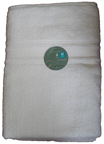 Charisma Luxury Bath Sheet 35 in x70 in 100% Hygro Cotton 674 GSM (White)