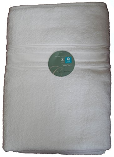 Charisma Luxury Bath Sheet 35 in x70 in 100% Hygro Cotton 674 GSM (White)