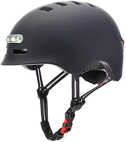 Casco de ciclismo, casco de montar con advertencia de luces traseras, carga USB Patinaje de equitación integrado,A