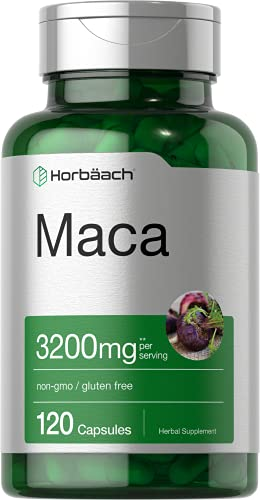 Maca Root Capsules 3200 mg | 120 Pills | High...
