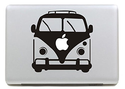 Vati Hojas desprendibles Autobús del Vinilo de la Etiqueta engomada de la Piel de Arte Negro para Apple Macbook Pro Aire Mac DE 13 Pulgadas 15'/13 Unibody 15' Pulgadas Portátil