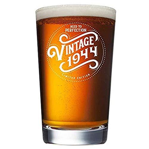 ANVPI 1944 75e verjaardagscadeaus voor mannen en vrouwen bier glas -75 jaar oud -beste cadeau ideeën hem haar man vrouw mama pa 16 oz pint ambachtelijke bier bril vintage partij benodigdheden decoraties geschenken