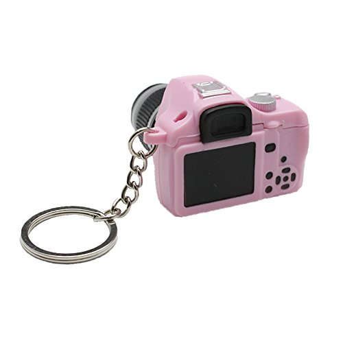 Key Chain SLR Camera Toy LED Keychain with Flash Light and Shutter Sounds