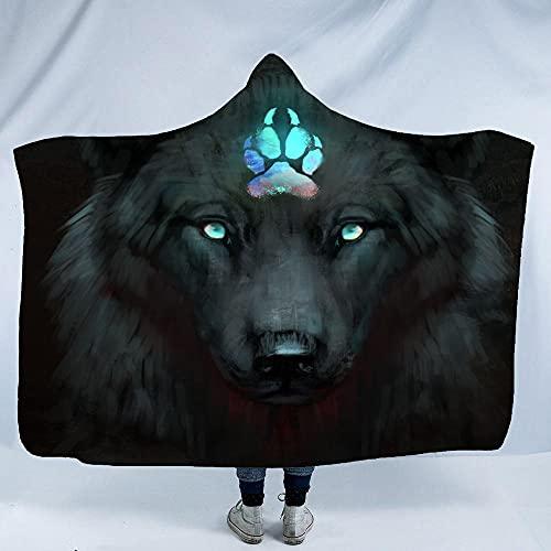 Manta Con Capucha Impresa En 3D,Tv Lectura Juegos Siesta Tirar Manta,Warcraft Wolf,Sudadera...
