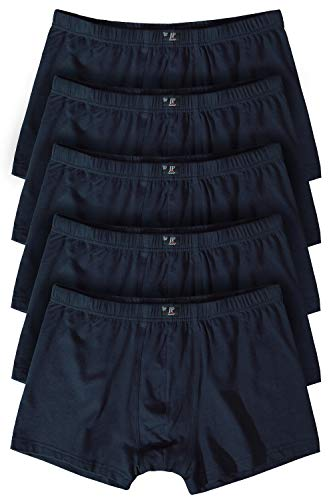 JP 1880 Herren große Größen bis 16, Pants 5er Pack Unterhosen, Boxer-Shorts, Hipster Slips, Schlüpfer Elastikbund, schwarz, dunkelblau Navy 16 711245 70-16