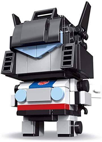 LJXGZY Transformers Bloques de construcción de partículas pequeñas Pop Dark Knight PVZ Bloques de construcción intelectuales colección decoración Modelo Regalo de cumpleaños Estatua