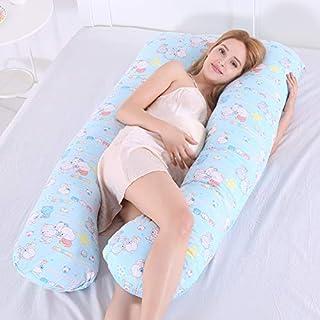 Home Almohada de Embarazo Almohada en Forma de U Posicional Almohada Cojín Apoyándose Protección De La Cintura Suministros de Maternidad Almohada Multifunción,B,140cm*80cm