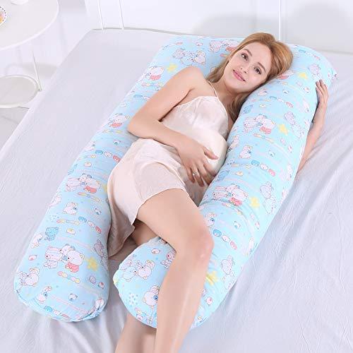 Home Almohada de Embarazo Almohada en Forma de U Posicional Almohada Cojín Apoyándose Protección De La Cintura Suministros de Maternidad Almohada Multifunción,B,140cm*80cm ⭐