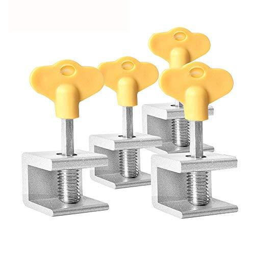 4 Piezas Cerradura Ventana de Aleación Aluminio, Cerraduras Ajustables Para Ventanas Correderas, Ajustable Aleación Aluminio Limitador Bloqueo Ventana para Protección Antirrobo Seguridad Infantil