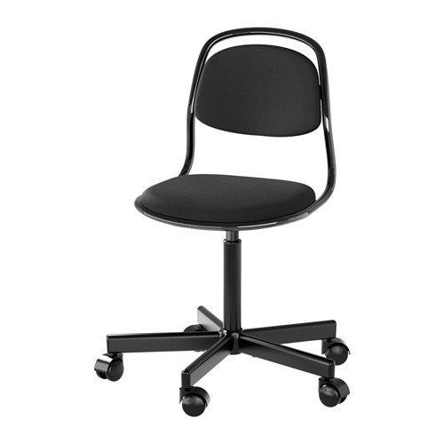 Ikea örfjäll–Silla infantil en negro; altura regulable