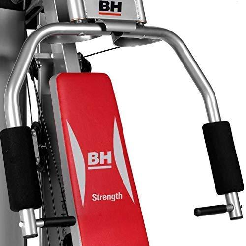 BH Fitness Multigym Pro G112T Multiestación. Tensión máxima de 50 Kg. Cuerda de tracción Kevlar. Sistema de poleas con rodamientos. Empleo de CAMS. Gris y Rojo: Amazon.es: Deportes y aire libre