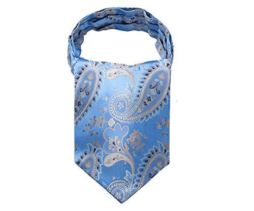 Enlision Herren Krawattenschal Paisley Floral Hochzeit Ascot Krawatte Geschaft Valentinstag blau Gold