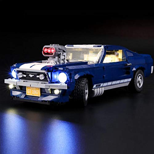 WFTD Kit De Luz LED para Modelos De Bloques De Construcción, Bloques De Construcción Lego Compatibles 10265 Ford Mustang (No Incluyen El Conjunto Lego)