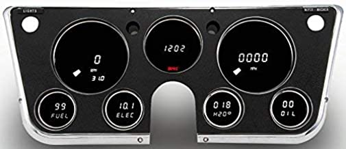 Intellitronix 1967-1972 Chevrolet Truck Digital Dash Panel Replacement Gauge - Direct-Fit Solution - Long Lasting Bright White LEDs - USA Made Quality Upgrade,
