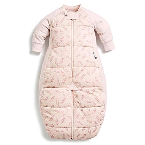 ergoPouch Schlafsack Baby Babyschlafsack Mit Füßen Langarm Winter - 100% Bio Baumwolle - Tog 3.5 - Pink - 8-24 Monate (90cm)