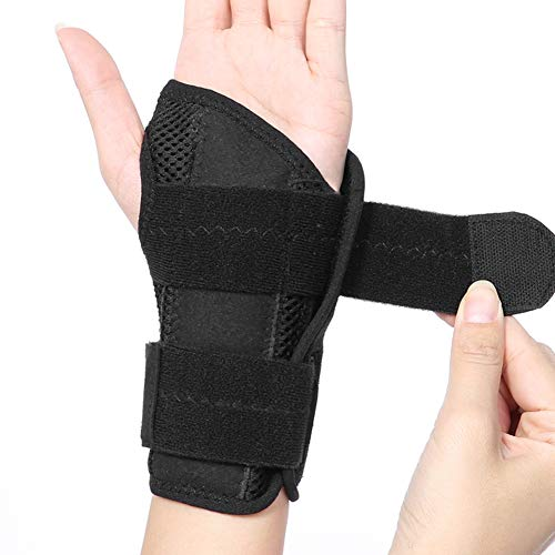 Wrist Support Breathable Wrist Bandage Wrist Splint Support Wrist Palm Protector Hand Wrist Brace with Removable Rail Stabilizer Ideal for Carpal Tunnel Sprains and Tendonitis Left