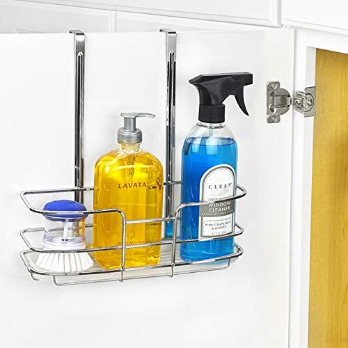 Lynk Organizador para porta de armário – Prateleira alta – c/bandeja moldada – Cromado