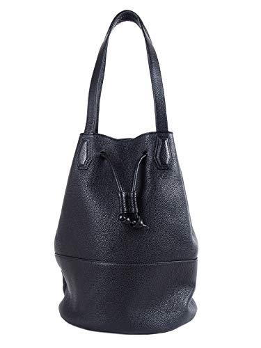 Molto Tasche aus Leder in Schwarz | Damen | Schultertasche | Bucket Bag | DinA4