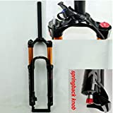 """jklapin Bicycle air Fork 26' 27.5' 29inch ER 1-1/8""""""""MTB Mountain Bike Suspension Fork air Resilience Oil Damping line Lock for Over (26, Remote Control)"""