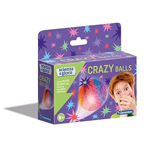 Clementoni - Scienza e Gioco Fun, Crazy Balls, Gioco Scientifico 8 Anni, Laboratorio Scientifico Palline, Kit Esperimenti Scienza, Versione in Italiano, 19155