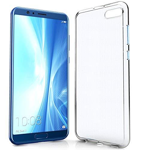 NewTop Cover Compatibile per Huawei Honor View 10/Play 16 cm 6.3'', Custodia TPU Clear Silicone Trasparente Slim Case Posteriore (per View 10)
