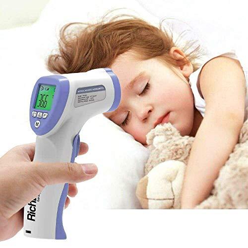 Madprice® Termómetro digital infrarrojo retroiluminado, termómetro profesional a distancia de 1 –...