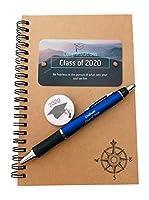2020 男の子 女の子 卒業ギフト 3点セット ハンドメイド ノートブック ジャーナル スタイラス インクペン ラペル バッグピン ギフト包装 米国製 手作り