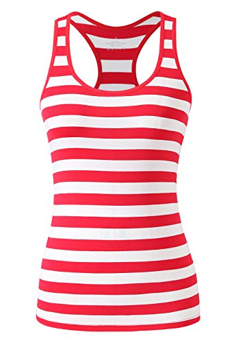 Red White Striped Tank Top