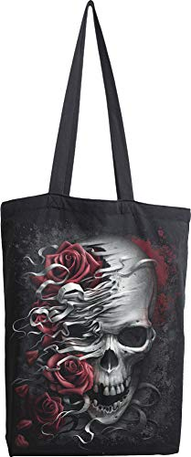 Spiral - Skulls N' Roses - Bag 4 Life - Canvas 80z Long Handle Tote Bag