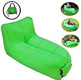 Aufblasbarer Sofa Stuhl Tragbarer aufblasbarer Liegestuhl Luftsofa mit Verstellbarer Rückenlehne...