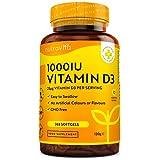 Vitamine D1000 UI (25μg) - 365 Capsules molles - Pour 1 annéee entière - maintien d'un système immunitaire sain, des muscles, des os et des dents - Vitamine D3 Cholecalciferol - Fabriqué par Nutravita