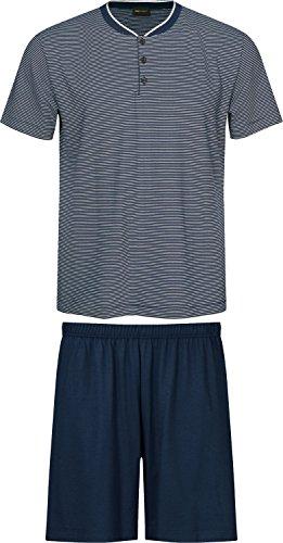 Mey Pyjama kurz Yacht Blue 52