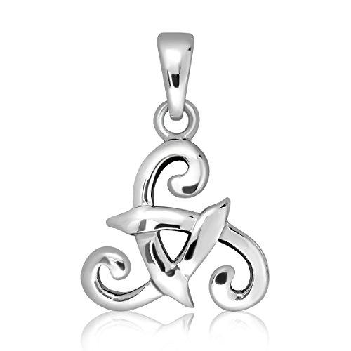 WithLoveSilver de plata de ley 925nudo Triple Espiral Celta colgante