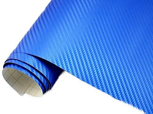 5€/m2 Auto Folie - 3D Carbon blau metallic blasenfrei 200 x 150 cm BLASENFREI Car Wrapping Klebefolie
