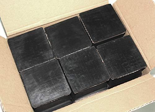 Gummiauflage 80x80x50mm (Karton mit 6 Stück) Gummi-Unterlage Wagen-Heber Hebebühne eckig Auto Set Unterstellbock Klotz Rangier-Wagenheber Puffer Reifen Reifenwechsel LKW Räder KFZ Tuning Zubehör