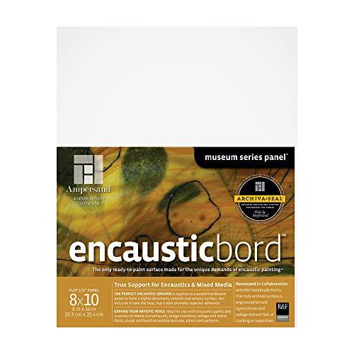 Ampersand Art Supply Wood Painting Panel: Museum Series Encausticbord, 8x10, 1/8 Inch Depth