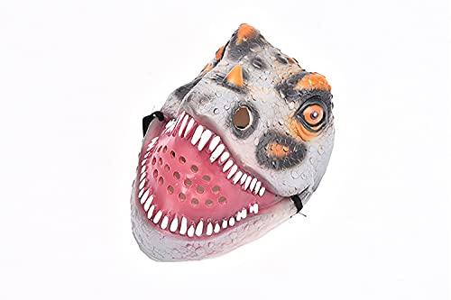 Simulated dinosaur mask Halloween tidy toy (Gray)