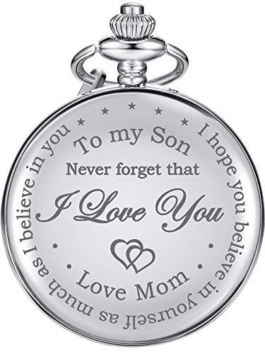 Reloj de Bolsillo Regalo para Hijo-Never Forget That, I Love You, Love