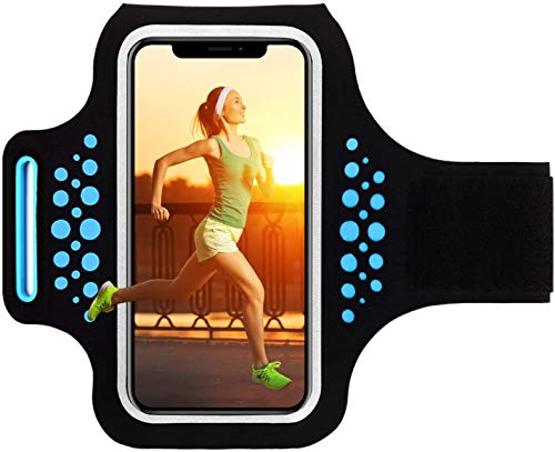 HAISSKY Sportarmband Armtasche für iPhone 7 8 6 6s SE 5S 5 5C SE Sport Armbänder Tasche für Joggen Laufen Handy Sport Handytasche mit Schlüsseltasche