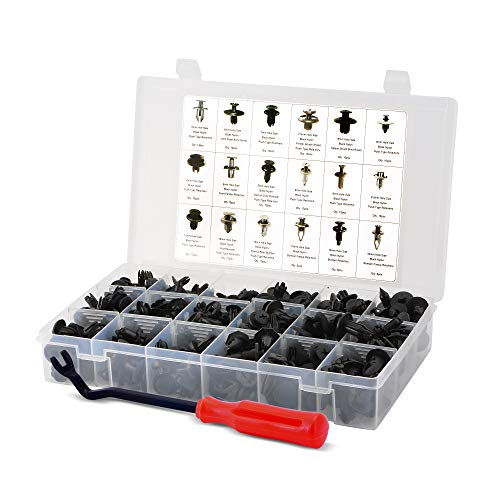 AFA Tooling Replacement for Honda Clips (190 Pcs) - Most Popular Sizes and Applications - with Fastener Remover