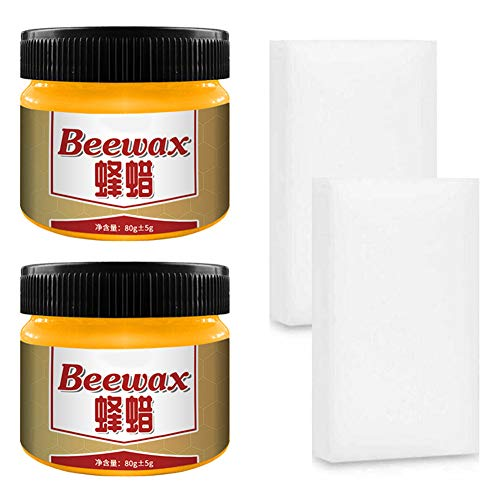 Ivo Ryan Wood Seasoning Beewax Complete Solution Furniture Care Beeswax Home Cleaning Woods Polished Waterproof and wear-Resistant Beewax Renew Cutting Boards