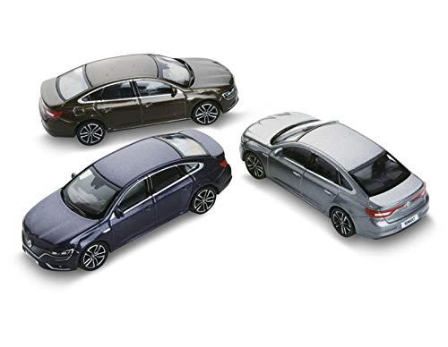 Renault Norev - Coffret de Trois Voitures Talisman 3 inches 1/64 --- Noire Etoilé - Gris Cassiopée - Brun Vision