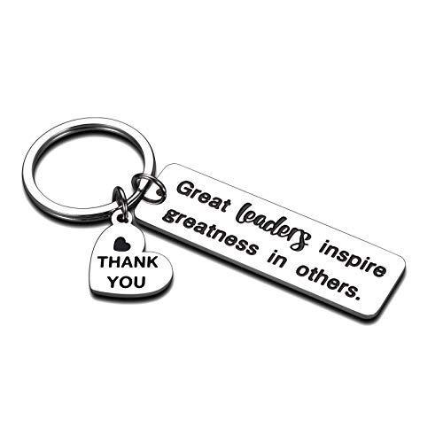 Boss Day Presents Leaders Boss Appreciation Gifts Keychain for Women Men Supervisor Birthday Christmas Gifts PM Mentor Retirement Thank You Going Away Leaving Office Gifts for Coworker Female Male