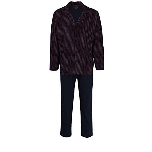 Götzburg Herren Nachtwäsche Zweiteiliger Schlafanzug, Pyjama lang, aus Baumwolle 56
