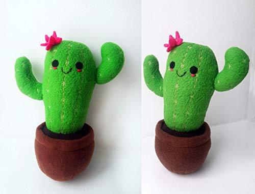 Cactus plush, handmade cactus toy, Stuffed cactus plushie, Cactus lover gift, Cactus Baby gift plush, 7.8 in