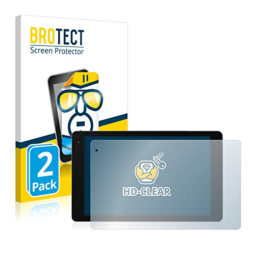 BROTECT Schutzfolie kompatibel mit Medion Lifetab P10603 (MD 60876) (2 Stück) klare Bildschirmschutz-Folie